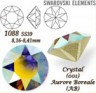 """Стразы неклеевые Crystal AB пакет 144 шт. (""""Сваровски"""" 1088 SS10) 2.7мм"""